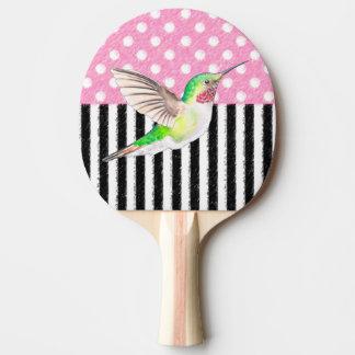 Raquette Tennis De Table Point de polka rose de colibri