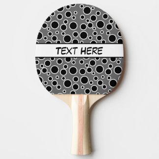 Raquette Tennis De Table Points noirs et blancs personnalisables