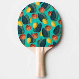 Raquette Tennis De Table pommes et citrons turquoises