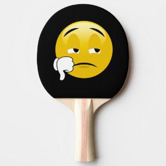 Raquette Tennis De Table Pouces d'Emoji vers le bas