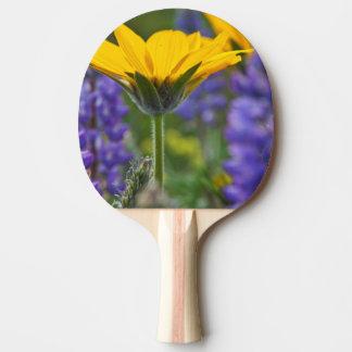 Raquette Tennis De Table Racine de baume d'Arrowleaf et au printemps fleur