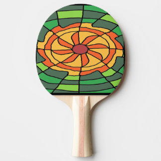 Raquette Tennis De Table Rayon de soleil sur le damier vert