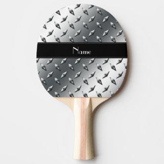 Raquette Tennis De Table Rayure noire en acier de plat nommé fait sur