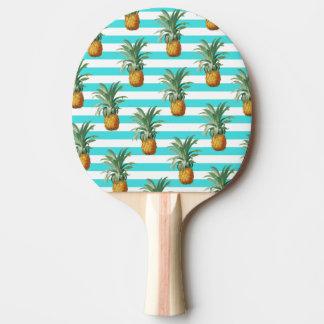 Raquette Tennis De Table rayures de sarcelle d'hiver d'ananas