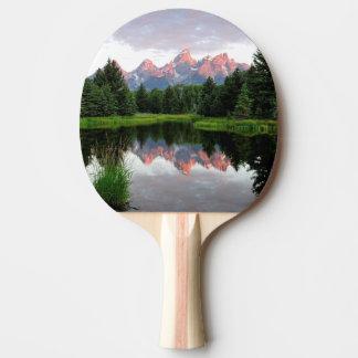 Raquette Tennis De Table Réflexions grandes de Teton au-dessus de l'étang