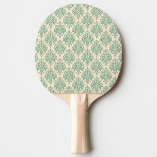 Raquette Tennis De Table Rétro motif vintage élégant de damassé