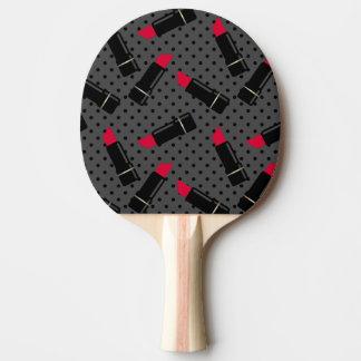 Raquette Tennis De Table Rétro, rouge rouge à lèvres