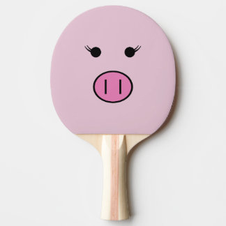 Raquette Tennis De Table Sadie le porc rose | Kawaii mignon