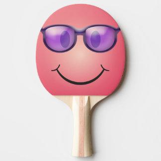 Raquette Tennis De Table Smiley avec des verres