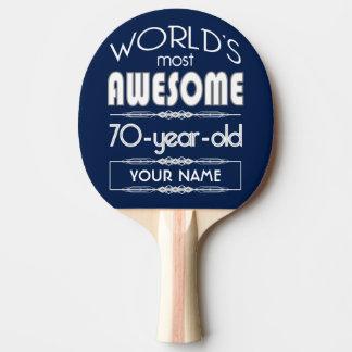 Raquette Tennis De Table soixante-dixième D'anniversaire des mondes