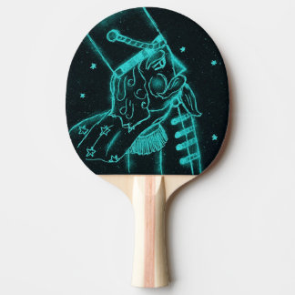 Raquette Tennis De Table Soldat de jouet en noir et Aqua