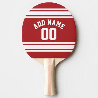 Raquette Tennis De Table Sports Jersey avec votre nom et nombre