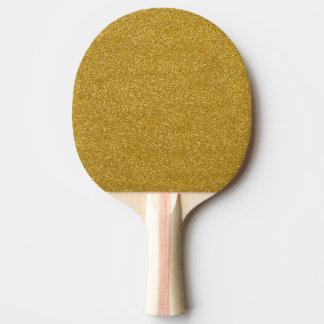 Raquette Tennis De Table Texture de scintillement d'or