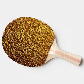 Raquette Tennis De Table textures brillantes de motif d'or
