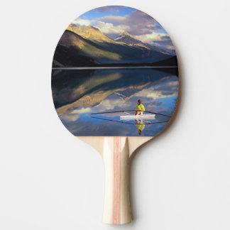 Raquette Tennis De Table Un rameur sur le lac Banff dans M. du Canada)