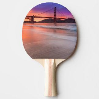 Raquette Tennis De Table Une capture de golden gate bridge de San Francisco