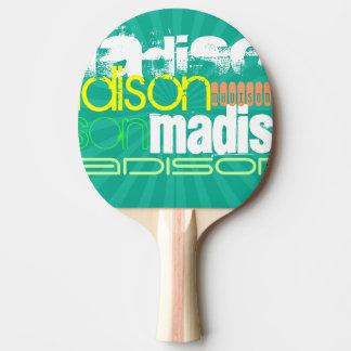 Raquette Tennis De Table Vert turquoise nommé fait sur commande