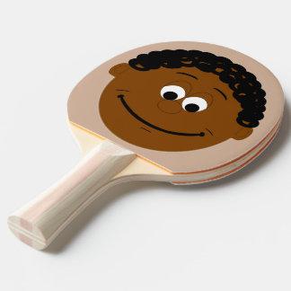 Raquette Tennis De Table Visage de caractère (ethniques noirs)