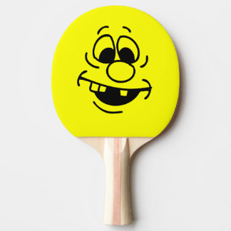 Raquette Tennis De Table Visage drôle de smiley de jaune d'expression