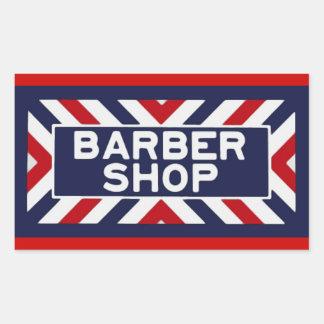 Raseur-coiffeur Sticker En Rectangle