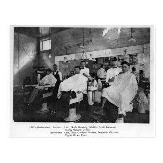 raseur-coiffeur des années 1920--Sage, la Virginie Carte Postale