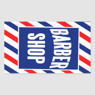 Raseur-coiffeur Sticker Rectangulaire