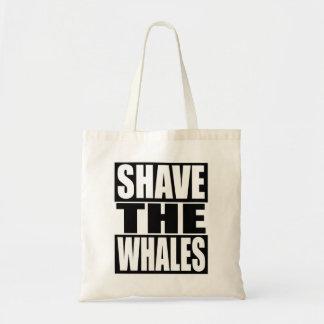 Rasez les baleines sac fourre-tout