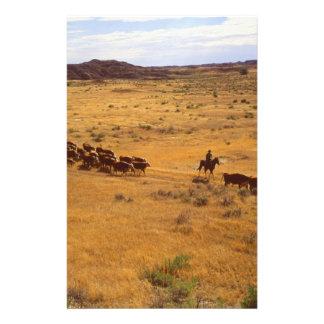 Rassemblement de bétail papier à lettre personnalisable
