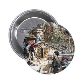 Rassemblement de Hansel et de Grethel la sorcière Badge Rond 5 Cm