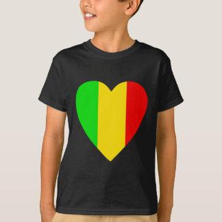 Rasta a coloré le coeur t-shirt