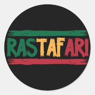 Rastafari Sticker Rond
