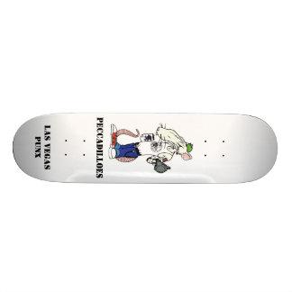 rat avec le dos de blanc, PECCADILLES, LAS VEGAS P Skateboards Personnalisés