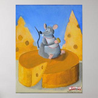 Rat de fromage - affiche