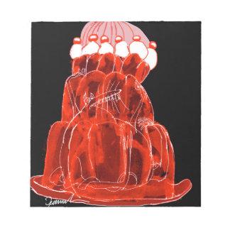 rat élégant de jello de la fraise des fernandes bloc-note