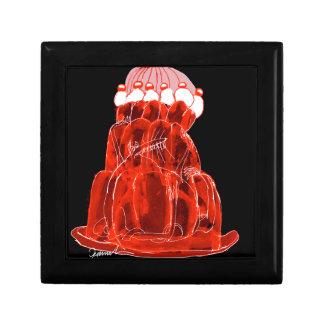 rat élégant de jello de la fraise des fernandes petite boîte à bijoux carrée