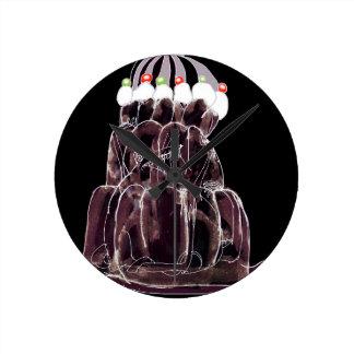 rat élégant de jello du kola des fernandes horloge ronde
