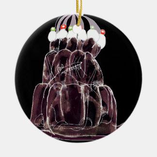 rat élégant de jello du kola des fernandes ornement rond en céramique