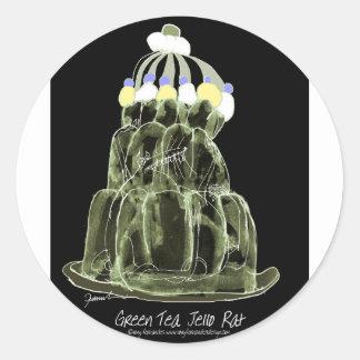 rat élégant de jello du thé vert des fernandes sticker rond