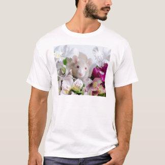 Rat en fleurs t-shirt
