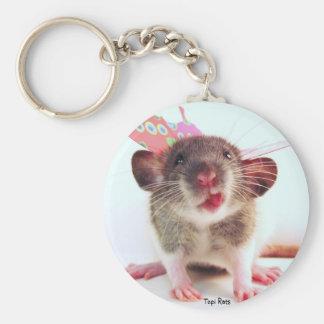 Rat idiot de Flutterby Porte-clé Rond