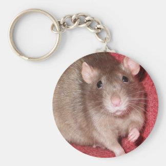 Rat mignon porte-clé