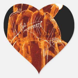 rat orange du jello des fernandes élégants sticker cœur