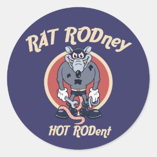 rat-rodney1-DKT Sticker Rond