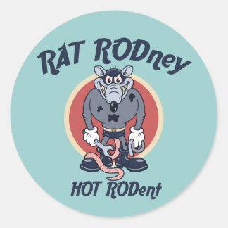 Rat Rodney Sticker Rond