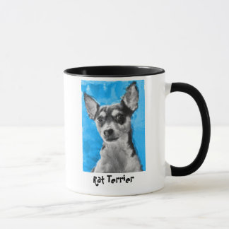 Rat terrier, tasse moderne d'art de chien