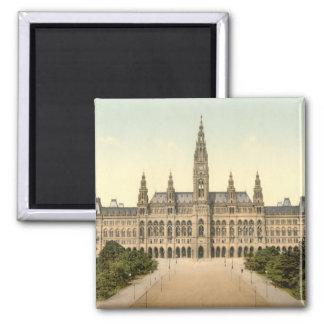 Rathaus, Vienne, Autriche Magnet Carré