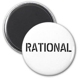 Rationnel Magnet Rond 8 Cm