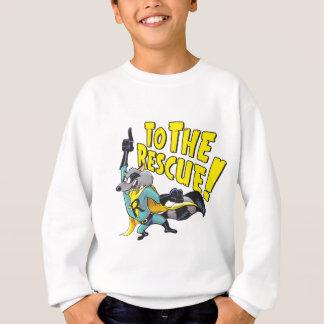 Raton laveur de super héros à la délivrance sweatshirt