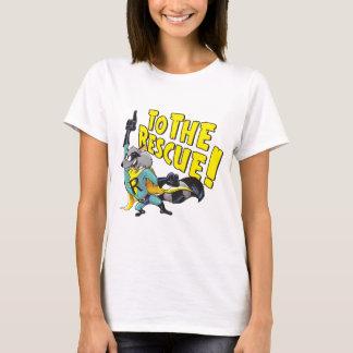 Raton laveur de super héros à la délivrance t-shirt