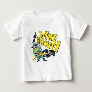 Raton laveur de super héros à la délivrance t-shirt pour bébé